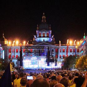 Ozvučení Václavského náměstí při oslavách výročí roku 1968 pro Český rozhlas