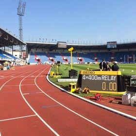 Ozvučení sportovního stadionu při Zlaté Tretře či Kontinentálním poháru v Ostravě ve Vítkovicích