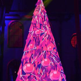 Videomapping na Vánočním stromečku