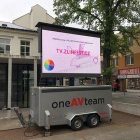 LED vozík na Zlín Film Fest