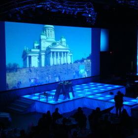 Podsvícené podium z plexi nivtec modulů - efektní použití ne přehlídky a gala